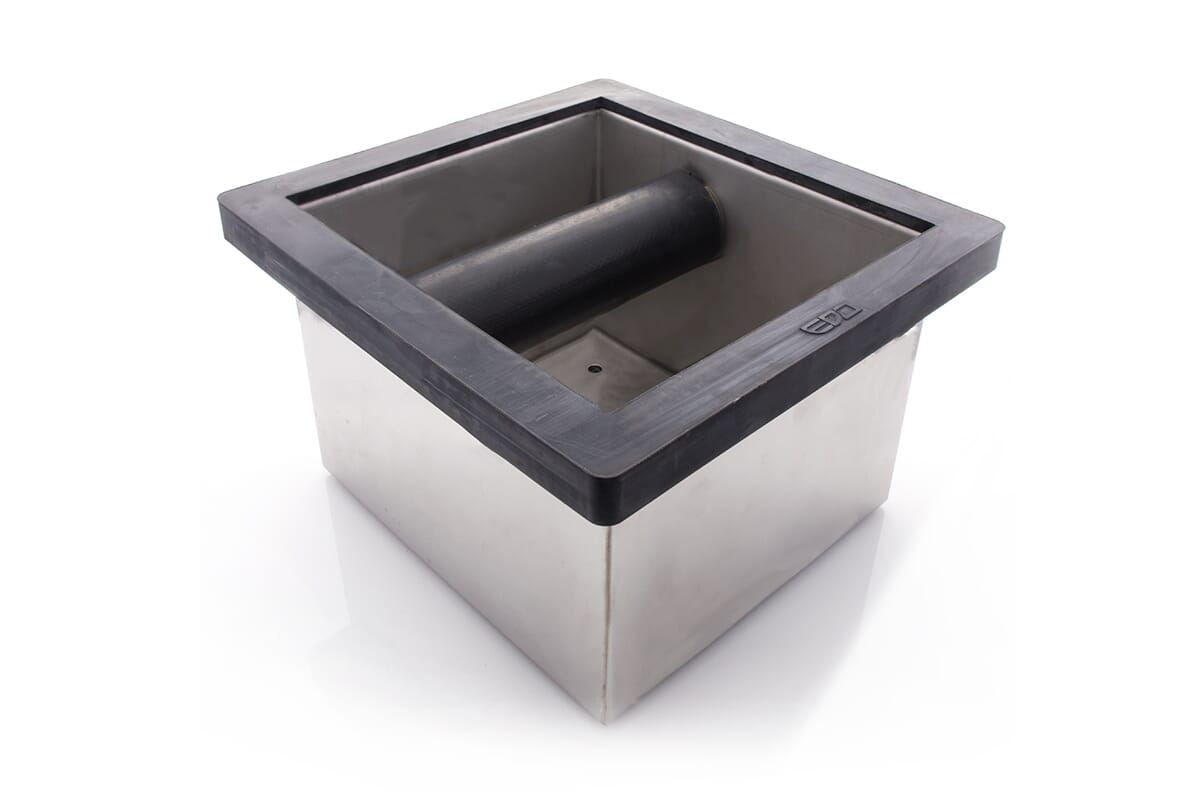 620266 / EDO SQUARE KNOCK BOX - STAINLESS STEEL (CLOSED BASE)